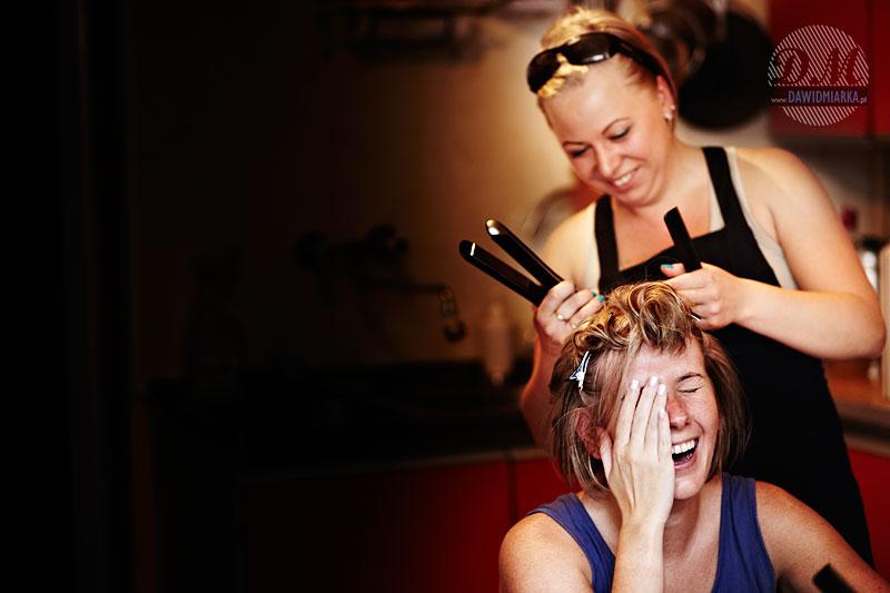 Młoda Pani u fryzjera - przygotowania przedślubne w Bielsku Białej