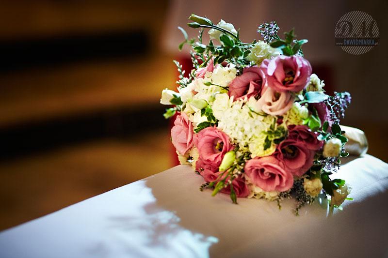 Zdjęcia bukietu ślubnego Młodej Pani
