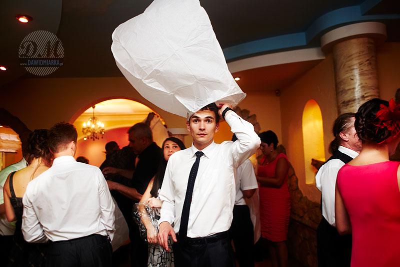 Lampiony szczęścia na weselu