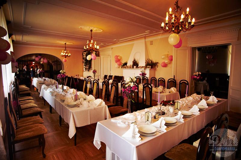 Dekoracje sali weselnej Zakrzów