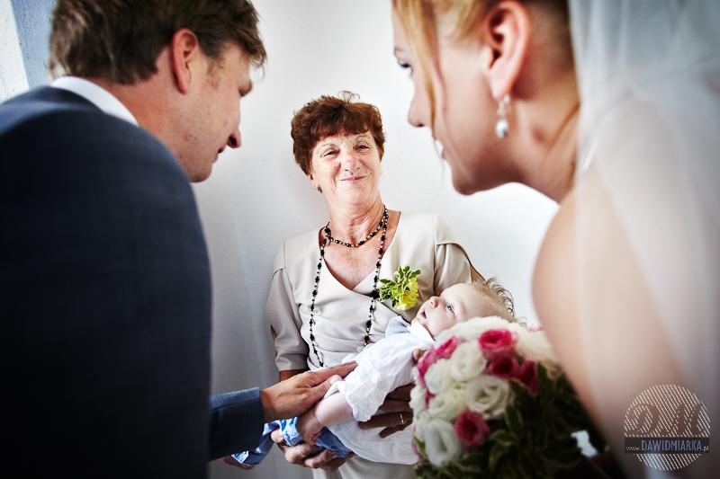 Przywitanie Młodej Pary z synkiem przed ślubem