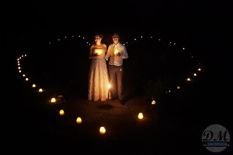 Plener ślubny Młodej Pary w nocy