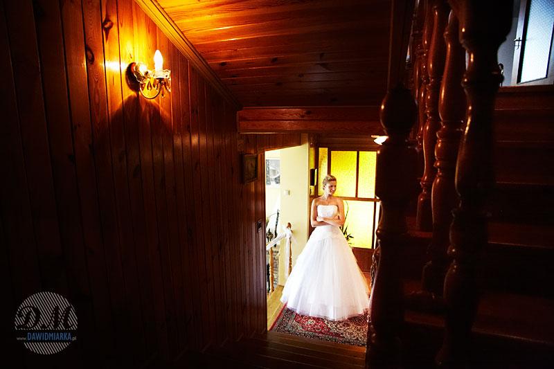 Zdjęcie ślubne Młodej Pani w domu