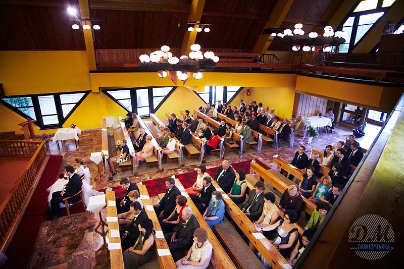 Ślub w kościele w Brennej