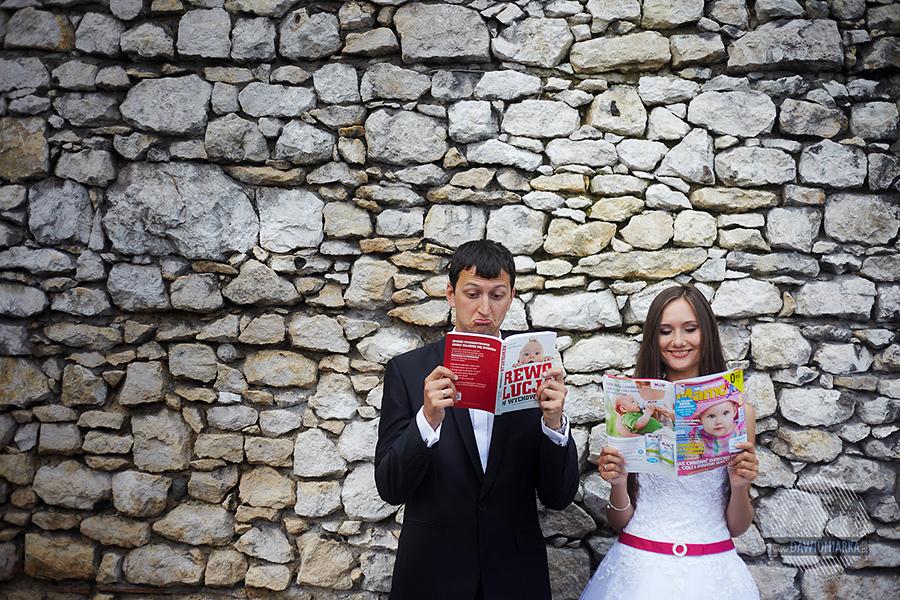 Zabawny plener ślubny Kraków