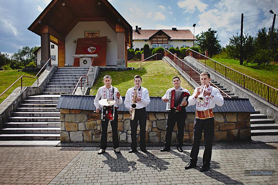 Orkiestra weselna. Fotografie Ślubne Stary Sącz.