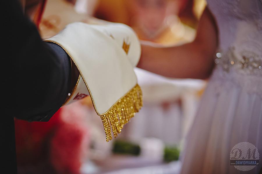 Stuła podczas ślubu. Fotograf na ślub ze Starego Sącza.