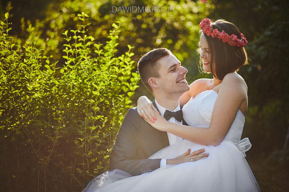 plener ślubny w lesie Wadowice